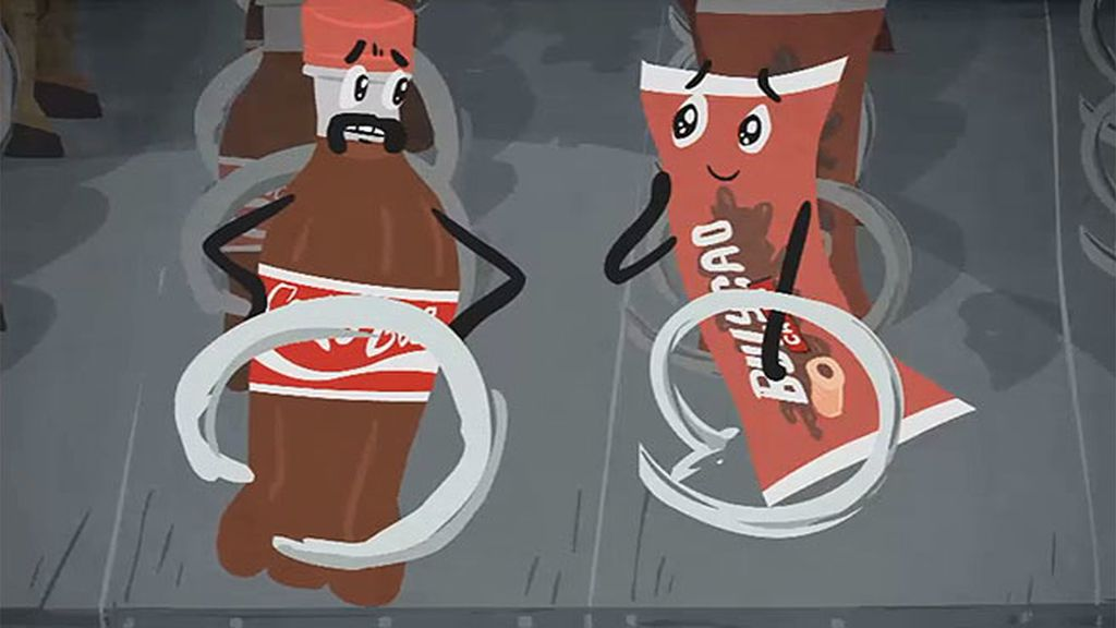 La máquina vending: El refresco y el bollo, a punto de separarse