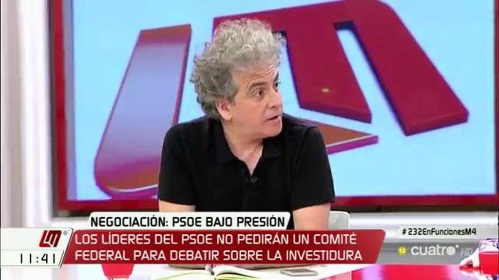 """Marcelo Expósito: """"El PSOE tiene que mantener su 'no' y tiene la responsabilidad de componer una mayoría alternativa"""""""
