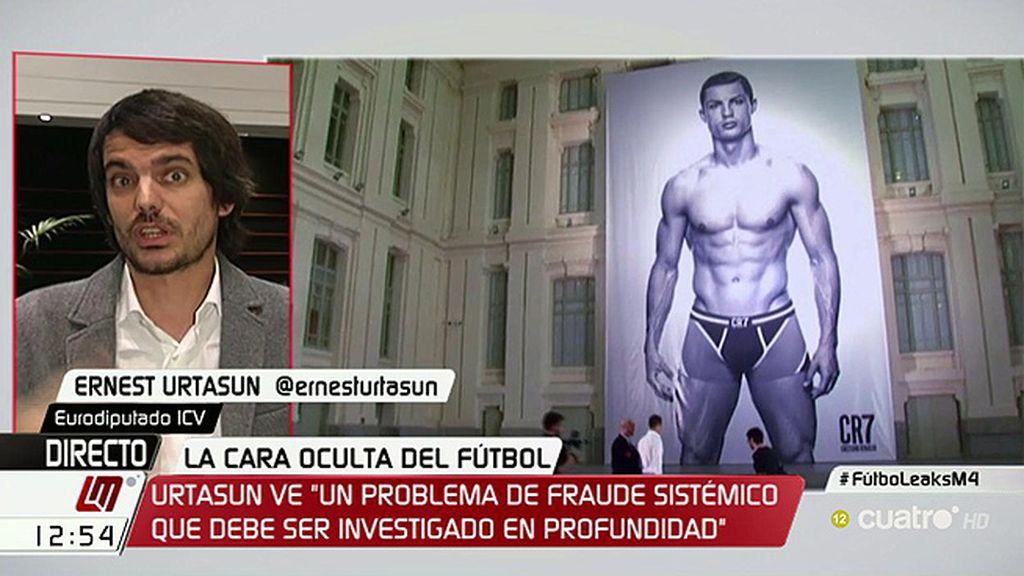 """Urtasun: """"Creemos que hay un problema generalizado de elusión fiscal en Europa relacionado con el mundo del fútbol"""""""