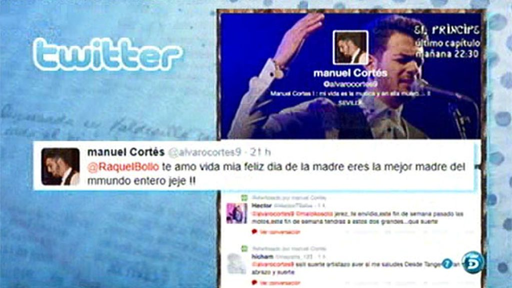 Manuel Cortés y Aguasantas felicitan el día de la madre a través de Twitter