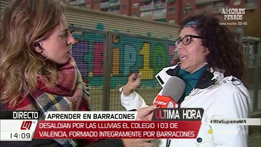 Desalojan un colegio de barracones en Valencia por 'riesgo eléctrico' tras la lluvia