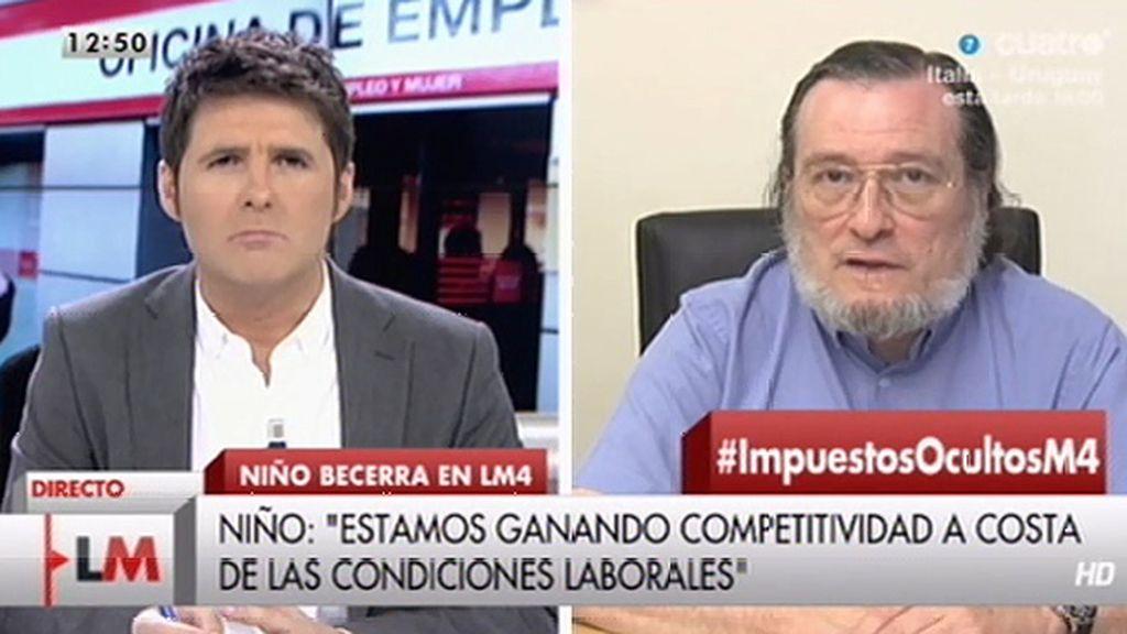 """Santiago Niño Becerra: """"Creo que después de las elecciones habrá una subida de impuestos o recortes brutales de gasto"""""""