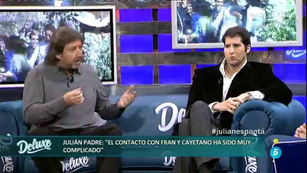 """Julián padre: """"El contacto con Francisco y Cayetano ha sido muy complicado"""""""