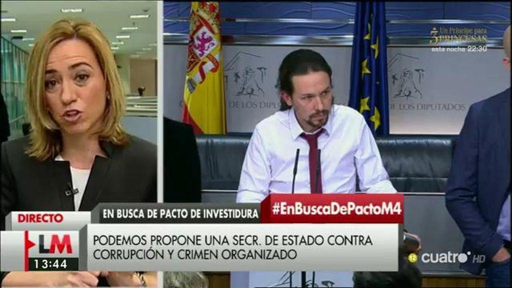 """Carme Chacón, sobre la nueva propuesta de Podemos: """"La música suena bien"""""""