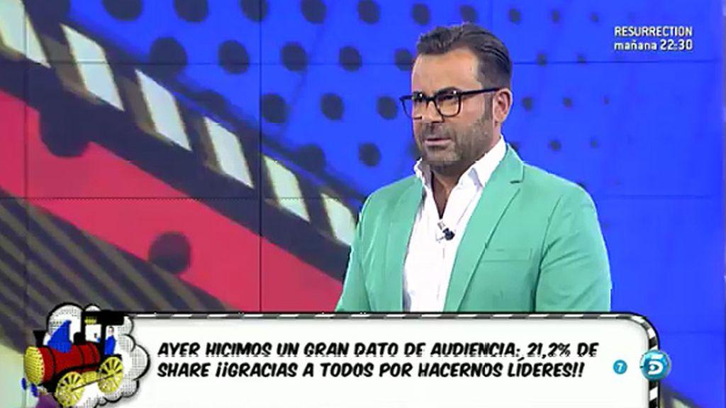 "Jorge Javier Vázquez: ""Gracias a ustedes hemos batido récord de audiencia"""
