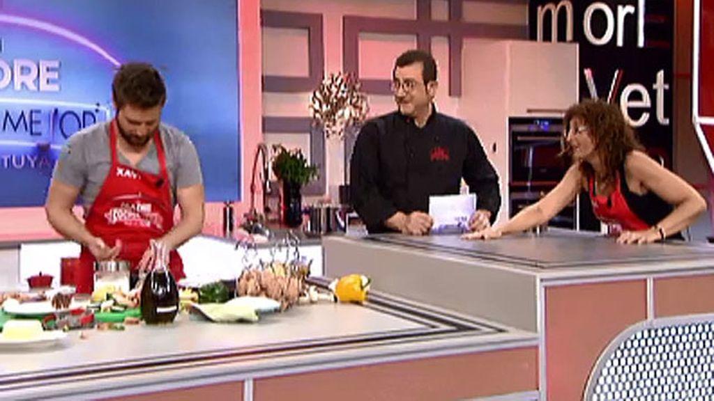 Xavi amasa con estilo las patatas cocidas