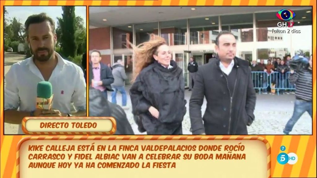Ni tarta nupcial ni baile, los detalles de la boda de Rocío Carrasco y Fidel Albiac