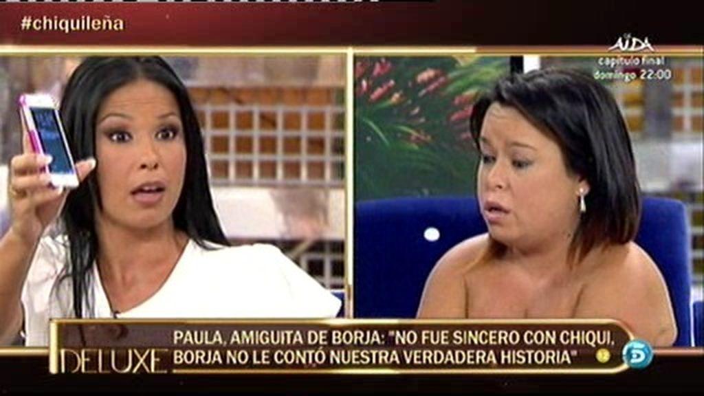 """Paula, la 'amiguita de Borja', a Chiqui: """"Tú marido me llamaba 15 veces al día"""""""