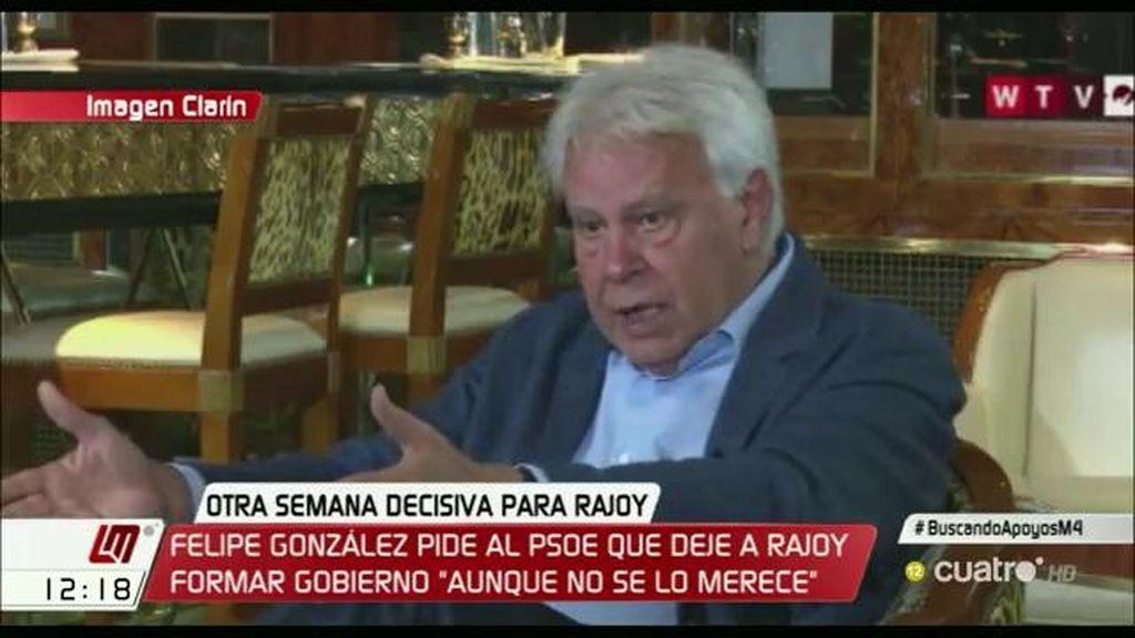 Felipe González, partidario de la abstención en segunda votación
