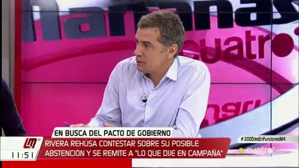 """Toni Cantó (C's): """"No queremos apoyar a un presidente como Mariano Rajoy"""""""