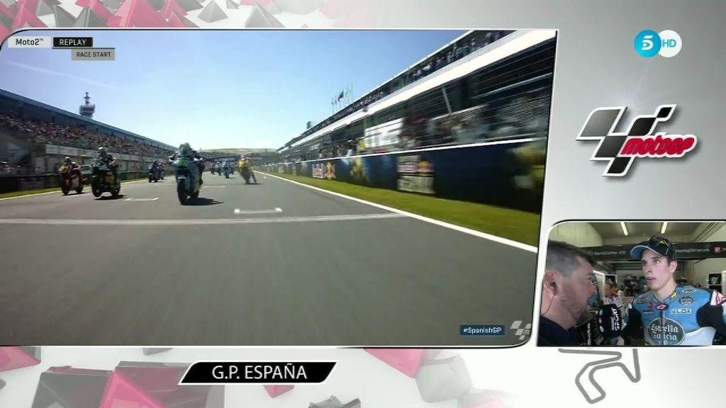 Àlex Márquez rompe a llorar tras caerse y decir adiós a la carrera de Jerez