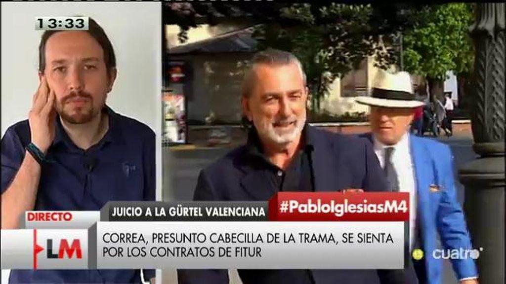 """Pablo Iglesias: """"El PP bien podría llamarse el partido presunto"""""""