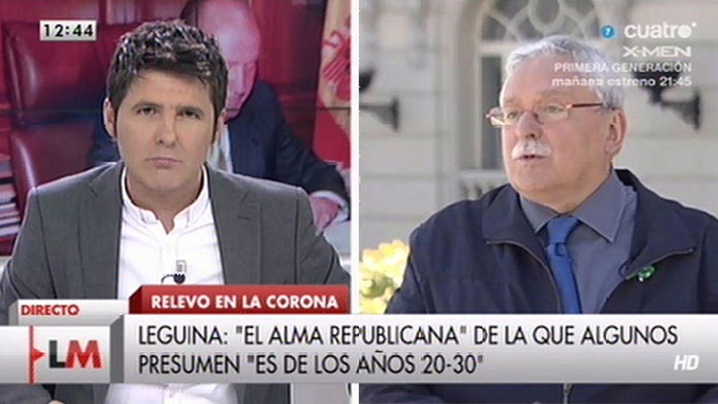 """J. Leguina, sobre las manifestaciones: """"Esto de la república me parece extemporáneo"""""""