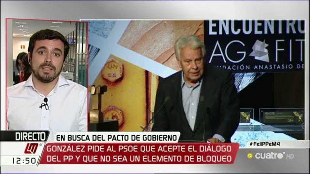 """Alberto Garzón: """"El PSOE tiene una contradicción en su seno"""""""