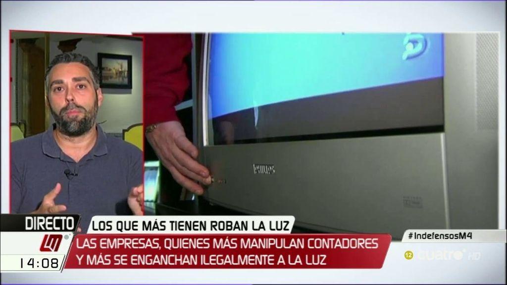 """R. Sánchez, FACUA: """"Las eléctricas acusan a familias de haber realizado manipulaciones"""""""