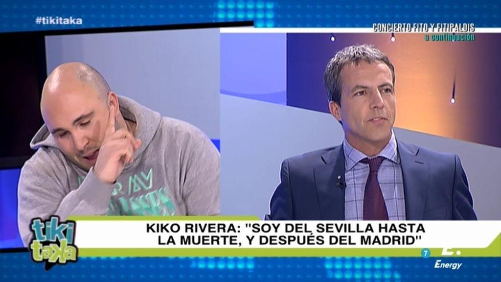 """Kiko Rivera, sobre sus colores: """"Soy del Sevilla y del Madrid, ¿qué hago Cristóbal?"""""""