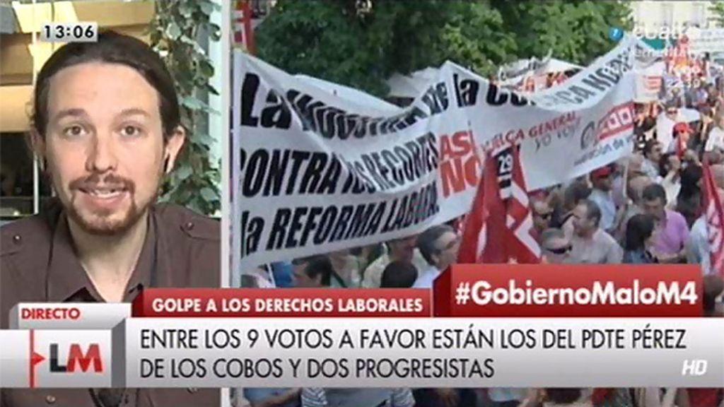 """Iglesias: """"El Constitucional no puede ser un tribunal al servicio de un gobierno determinado"""""""