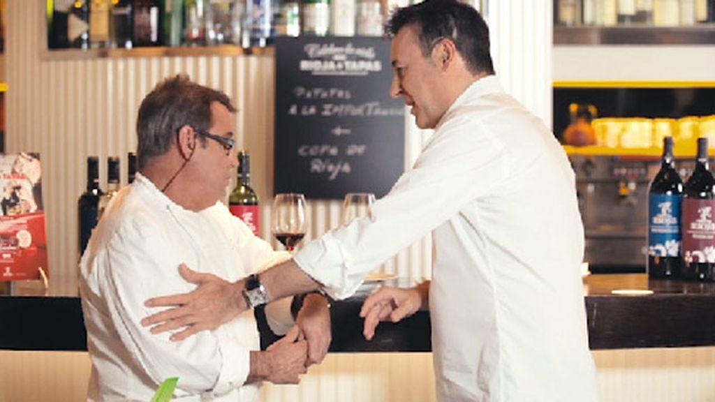 En el restaurante 'Vía Vélez', con Paco Ron