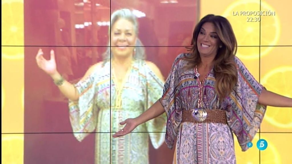 Raquel Bollo se pregunta a quién le queda mejor el vestido ¿A ella o a Gahona?