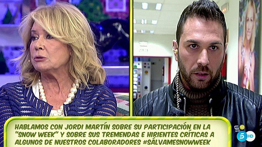 """Mila se va de plató tras una 'advertencia' de Jordi Martín: """"No trabajo con chantajistas"""""""