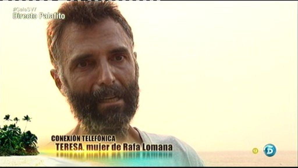 """Rafa Lomana, a su mujer: """"Necesitaba escucharte y saber de vosotras"""""""