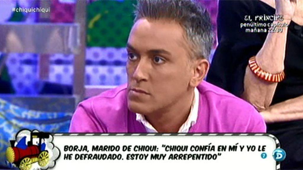 """Borja, el marido de Chiqui, a Kiko H.: """"Esta semana entro en tratamiento"""""""