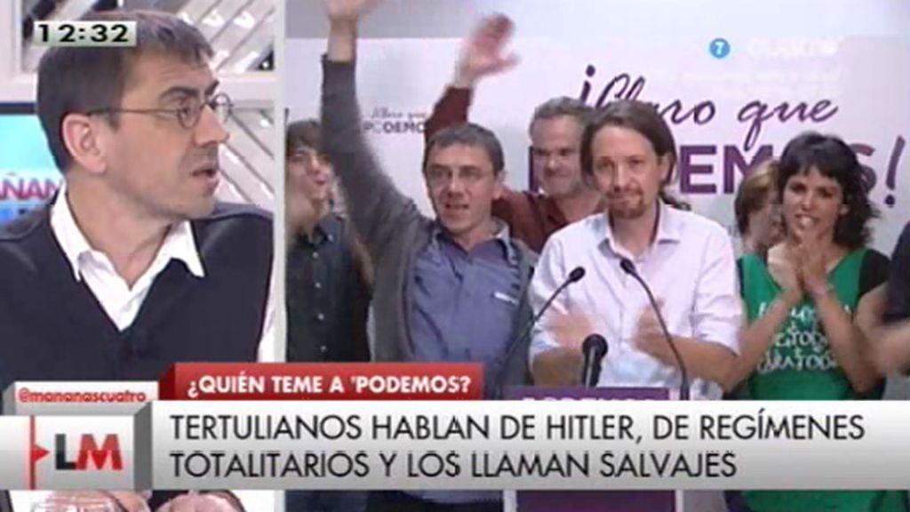 """J.C. Monedero (Podemos): """"Se ha acabado un régimen, una etapa, hay que renovarla"""""""