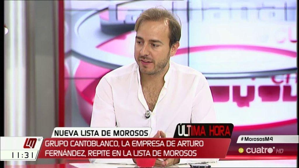 """J. Dorado, sobre la lista de morosos: """"Esto demuestra que hay lucha contra el fraude"""""""