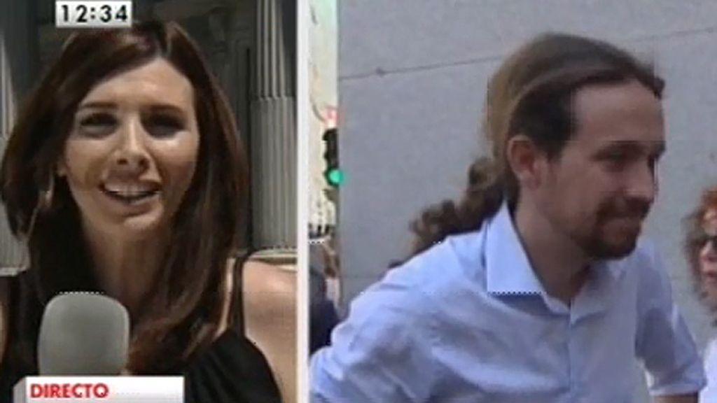 No ha habido saludo entre Cañete y Pablo Iglesias ante los medios de comunicación