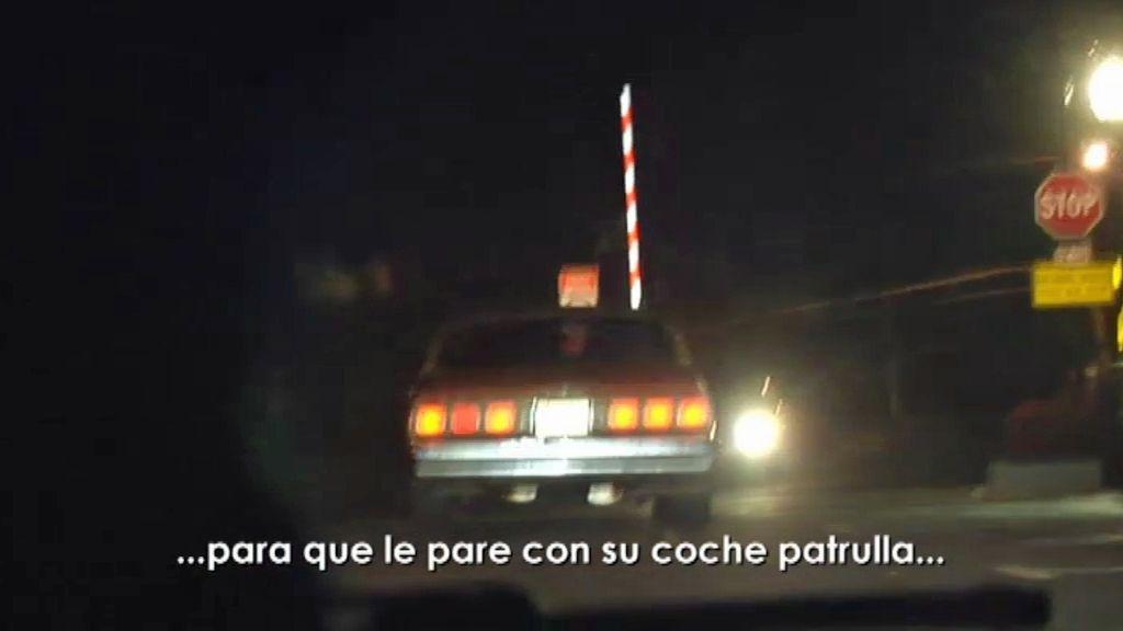 Persecución nocturna en coche a un traficante