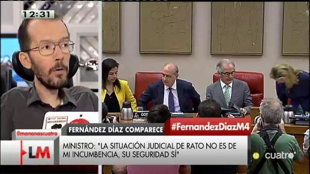 """Pablo Echenique: """"Rodrigo Rato es un problema de seguridad para el PP"""""""