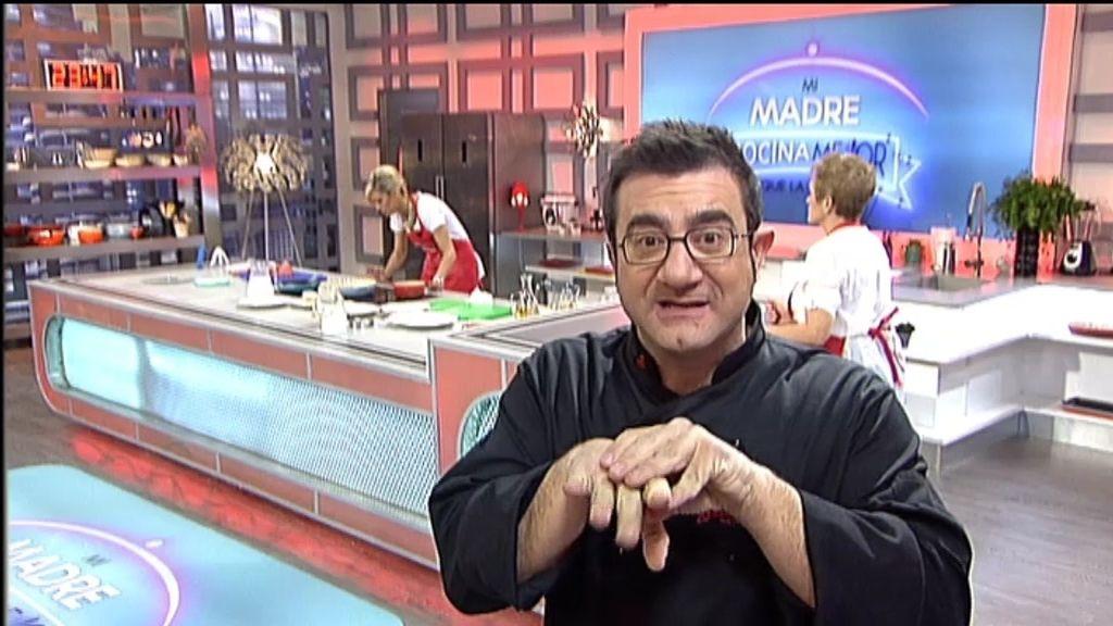 El chef Sergio Fernández da varios trucos para preparar cachopos y rossejat