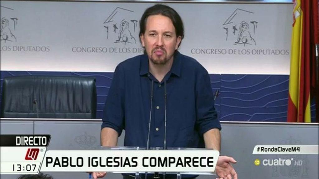 """Iglesias: """"Tras lo ocurrido en el Parlament, será muy complicado un pacto de izquierdas"""""""