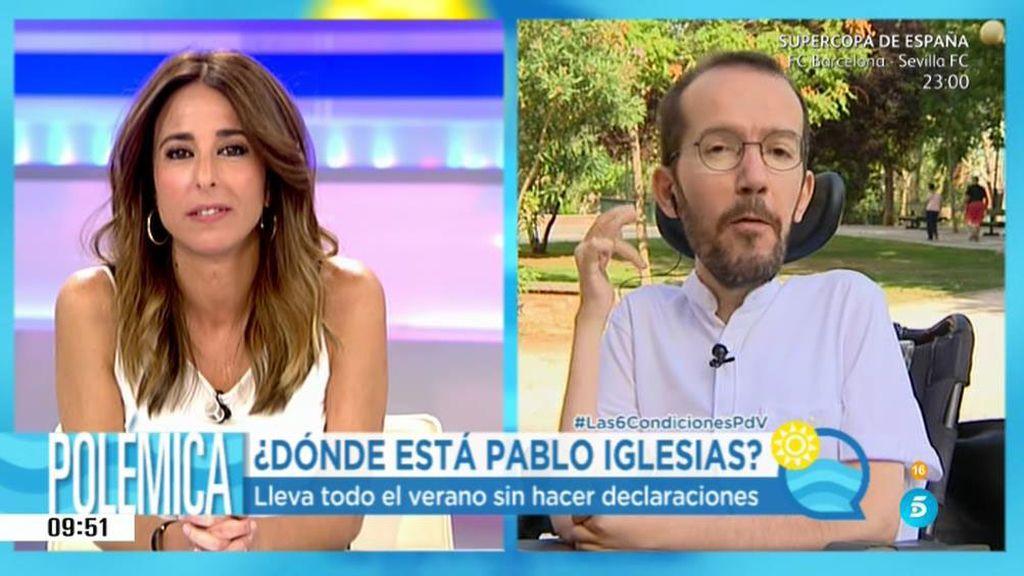 """Echenique: """"Cuando fracase la investidura de Rajoy nos sentaremos con el PSOE"""""""