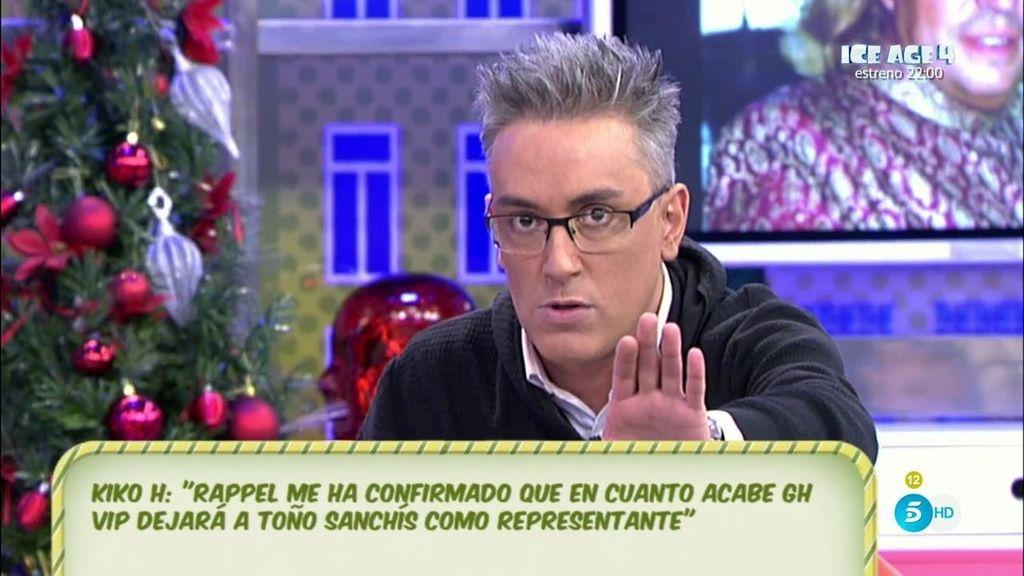 Rappel dejará a Toño Sanchís después de concursar en 'GH VIP', según Kiko Hernández