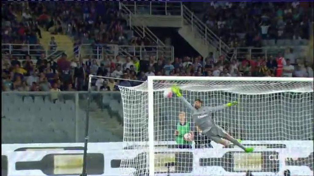 Golazo de falta por la escuadra de Marcos Alonso en la victoria de la Fiorentina