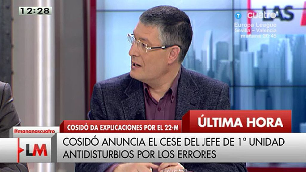 """José María Benito: """"Creo que se cargan al que menos culpa tiene"""""""