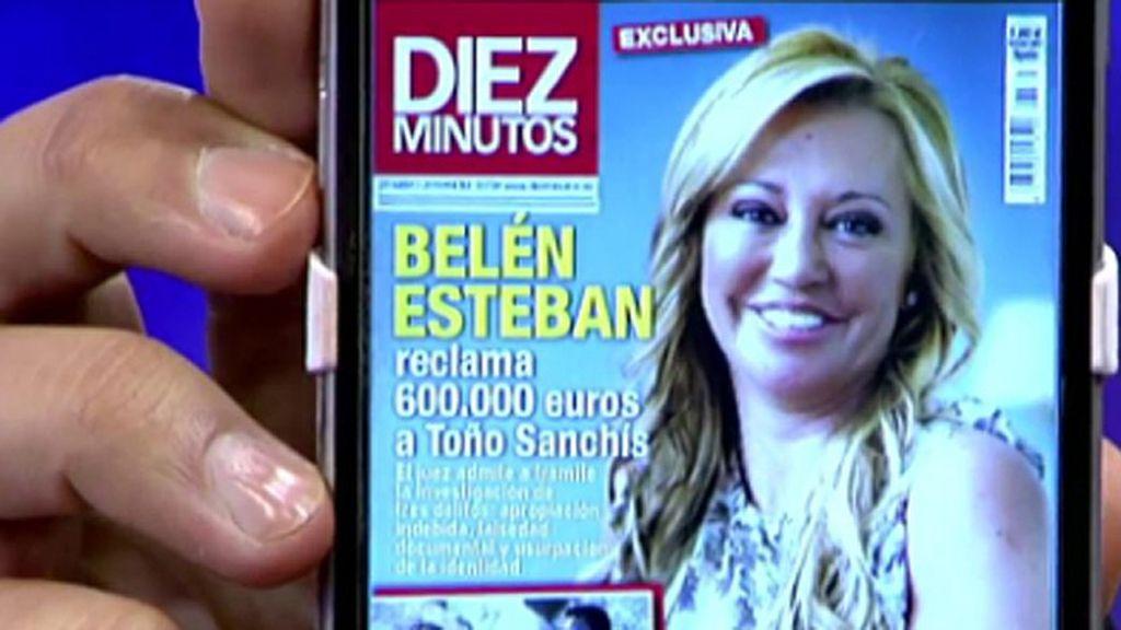Belén Esteban reclama 600.000€ a Toño Sanchís, según 'Diez Minutos'