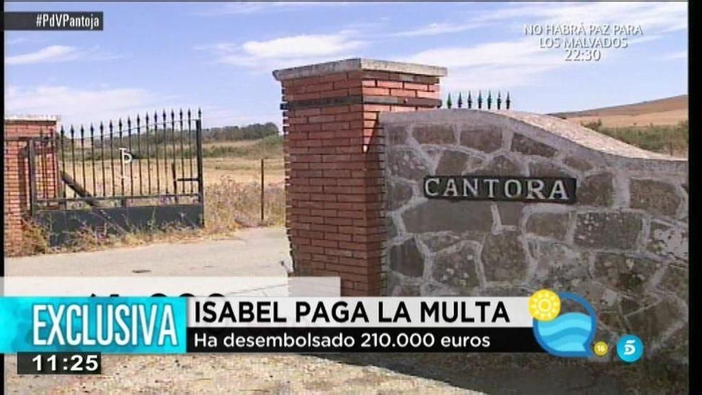 Exclusiva: Isabel Pantoja paga 210.000 euros con el alquiler de Cantora