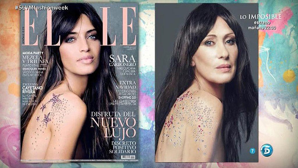 Rosa Benito emula a Sara Carbonero en la portada que protagonizó de la revista 'Elle'
