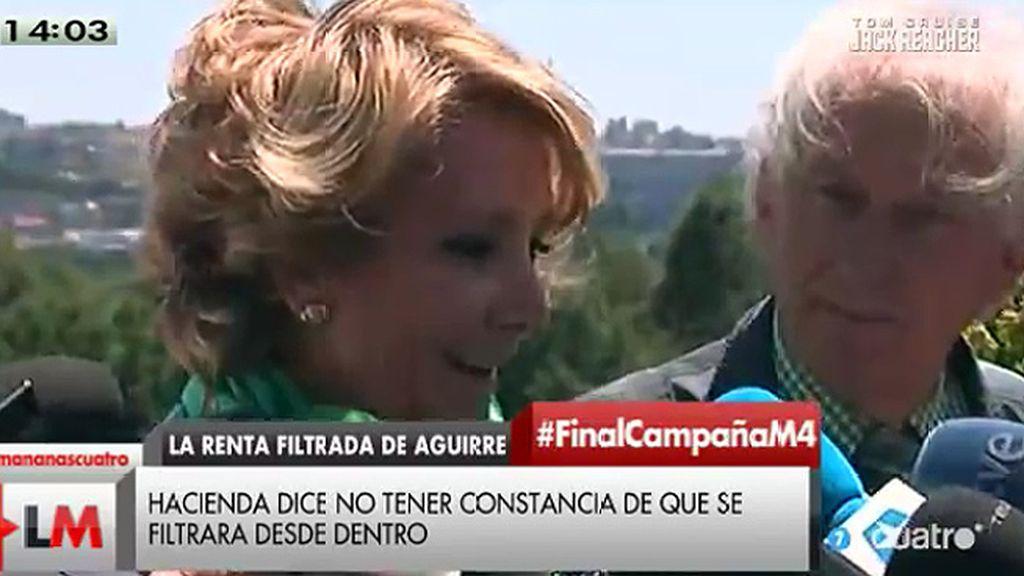 """Esperanza Aguirre: """"Que se diga que yo he filtrado la declaración es un insulto"""""""