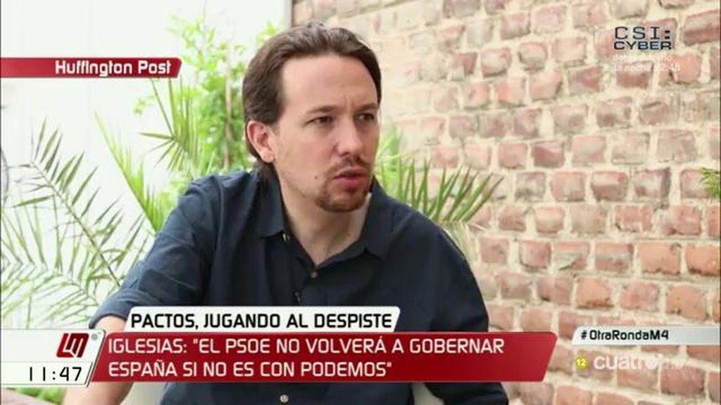 """Pablo Iglesias: """"El PSOE no volverá a gobernar España si no es con Podemos"""""""