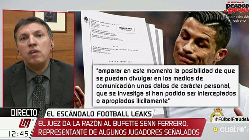 """Bosch cree que la decisión del juez sobre Football Leaks tiene """"lagunas"""" pero matiza que el caso tiene """"secreto de sumario"""""""