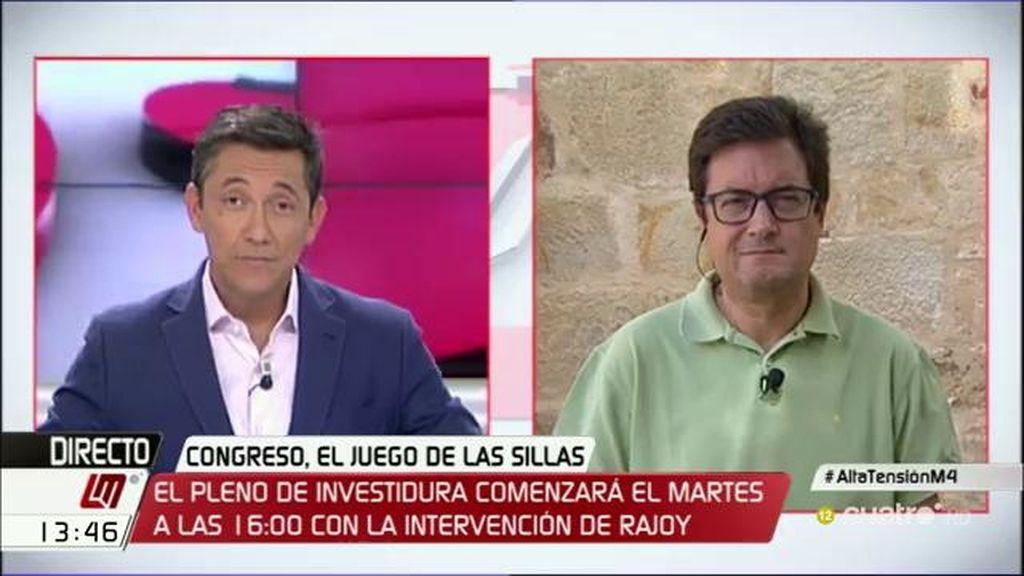 """Óscar López: """"La decisión de elecciones el 25 es de Rajoy, no hay Ley que le obligue"""""""