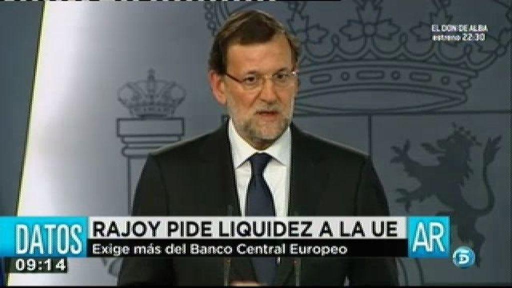 Rajoy pide liquidez a la UE