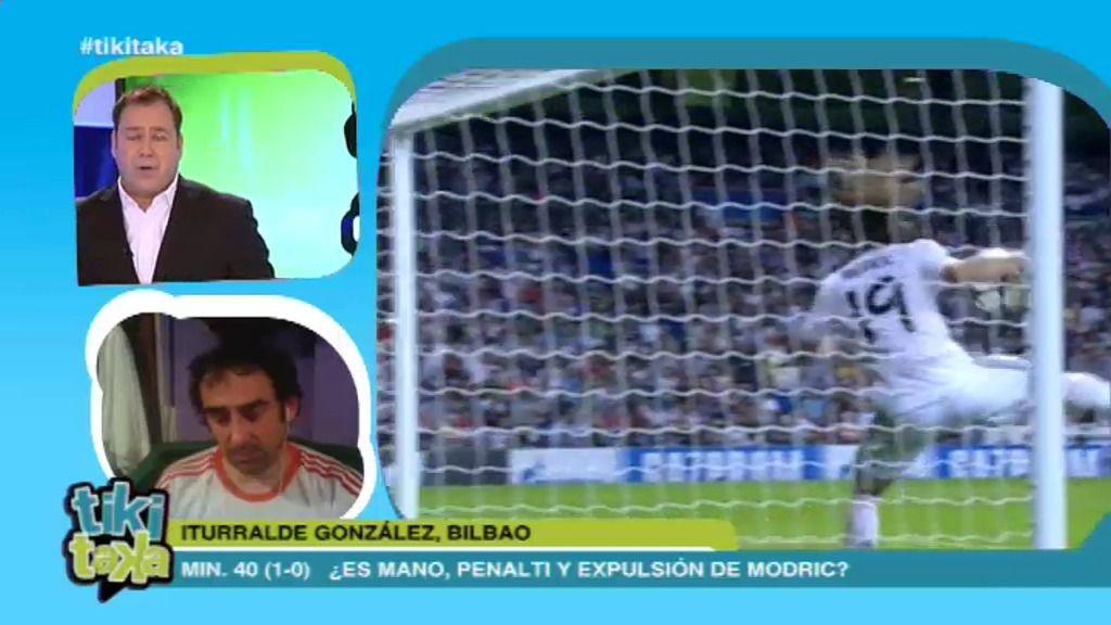¿Penalti y expulsión de Modric?