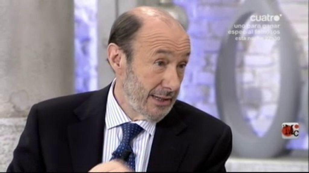 """Rubalcaba: """"ETA lo deja porque no puede más"""""""