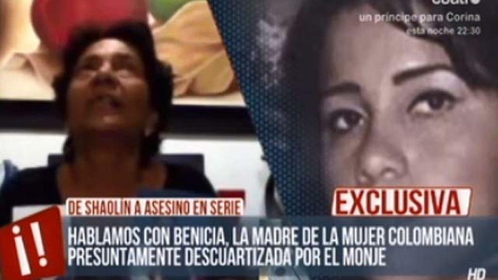 """Madre de la joven presuntamente descuartizada por el monje: """"Eres Satanás"""""""