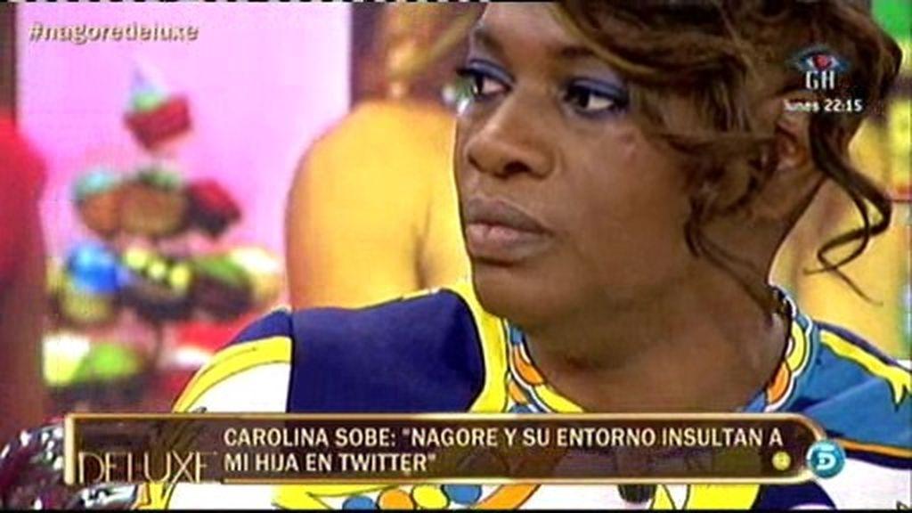 """Carolina Sobe: """"Nagore y su entorno insultan a mi hija en Twitter"""""""