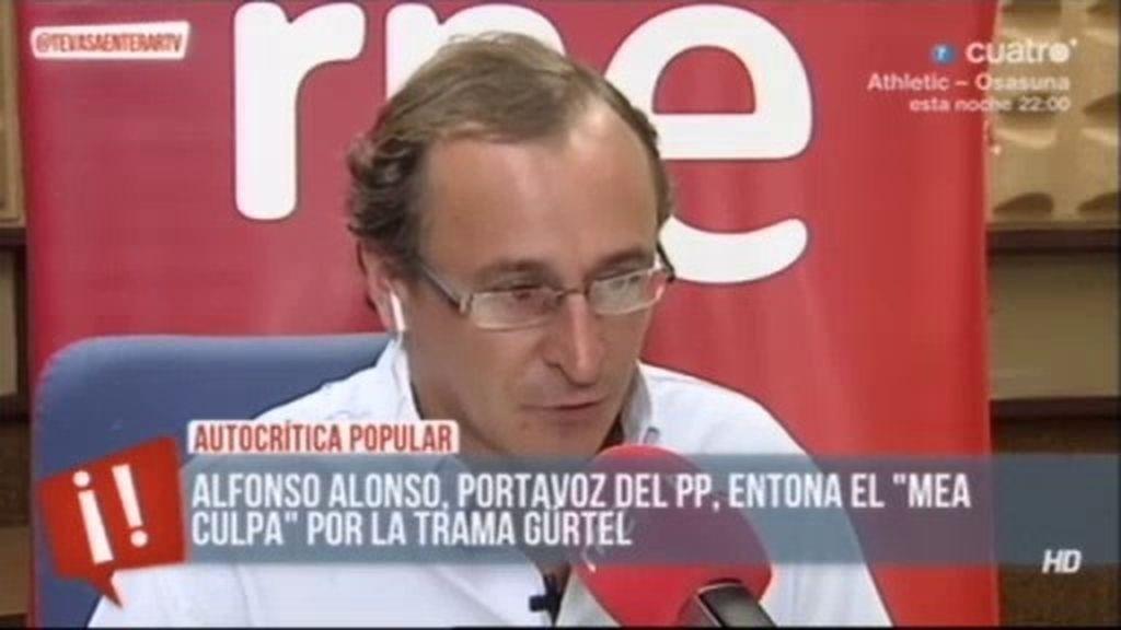 """Alfonso Alonso, portavoz del PP: """"En nuestro propio partido hubo una trama"""""""